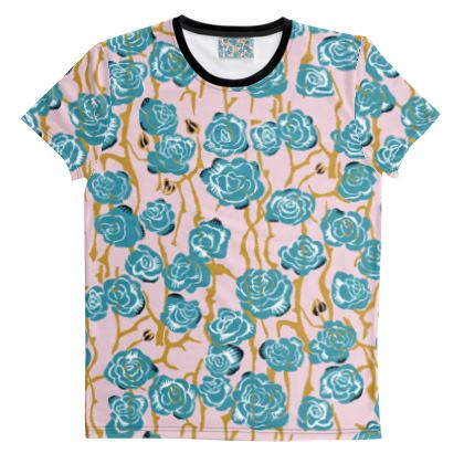 T-shirt imprimé coupé-cousu Blossom Joy Art Deco