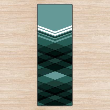 Yoga Mat Blue Stripes