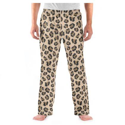 Leopard Print Mens Pyjama Bottoms