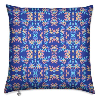 Cushions, Blue, Orange Leaf  Slipstream  Almost Winter