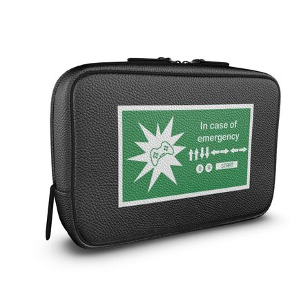 Mens Large Wash Bag - In Case of Emergency - Use Cheat Code