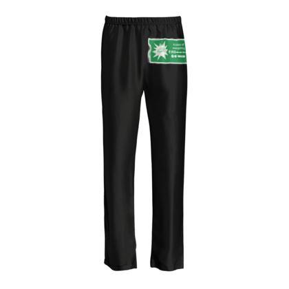Ladies Silk Pyjama Bottoms - In Case of Emergency - Use Cheat Code