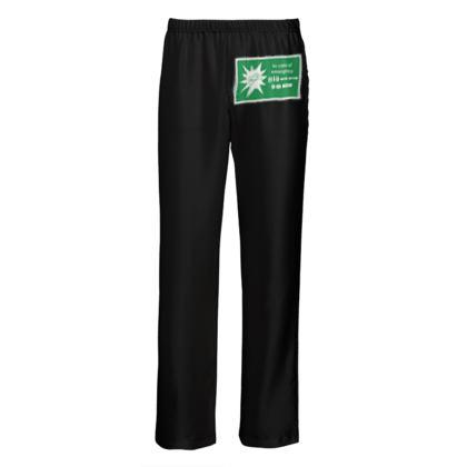 Mens Silk Pyjama Bottoms - In Case of Emergency - Use Cheat Code
