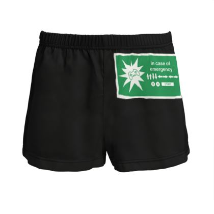Ladies Silk Pyjama Shorts - In Case of Emergency - Use Cheat Code