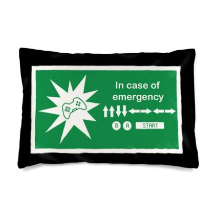 Silk Pillow Case - In Case of Emergency - Use Cheat Code