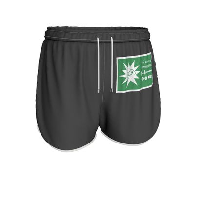 Womens Running Shorts - In Case of Emergency - Use Cheat Code