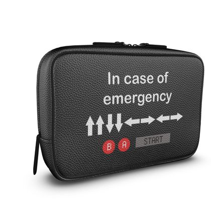 Mens Large Wash Bag - In Case of Emergency - Use Cheat Code 2