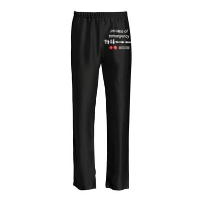 Ladies Silk Pyjama Bottoms - In Case of Emergency - Use Cheat Code 2