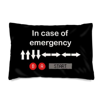 Silk Pillow Case - In Case of Emergency - Use Cheat Code 2