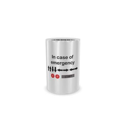 Wine Bottle Cooler - In Case of Emergency - Use Cheat Code 2 (Black Text)