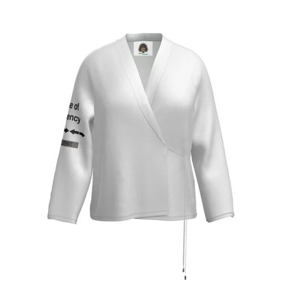 Wrap Blazer - In Case of Emergency - Use Cheat Code 2 (Black Text)