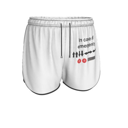 Womens Running Shorts - In Case of Emergency - Use Cheat Code 2 (Black Text)
