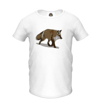 Girls Premium T-Shirt - Lonely Fox In The Snow