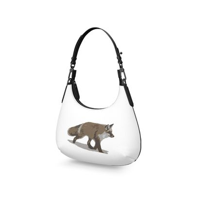 Mini Curve Bag - Lonely Fox In The Snow