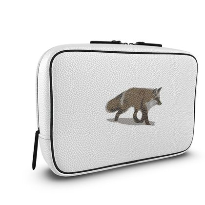 Mens Large Wash Bag - Lonely Fox In The Snow