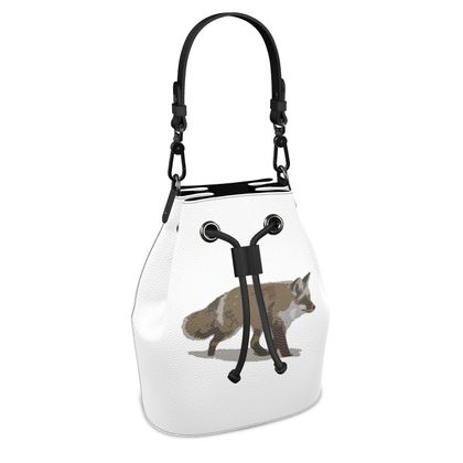 Bucket Bag - Lonely Fox In The Snow