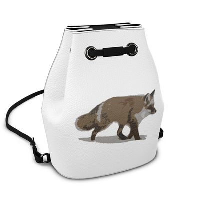 Bucket Backpack - Lonely Fox In The Snow