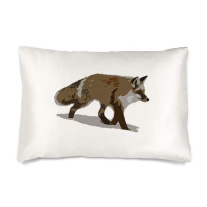 Silk Pillow Cases Sizes - Lonely Fox In The Snow