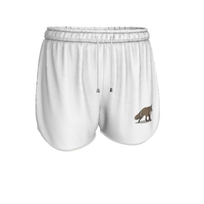 Womens Running Shorts - Lonely Fox In The Snow