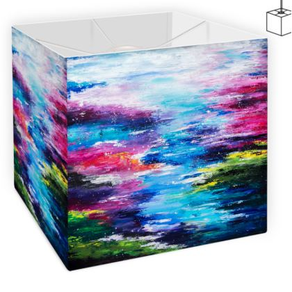 The Colourful River -Square lampshade