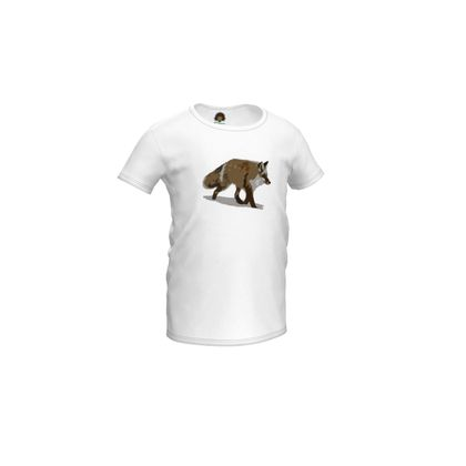 Girls Simple T-Shirt - Lonely Fox In The Snow