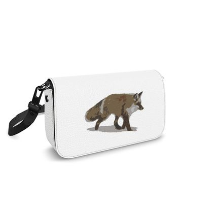Flap Over Box Bag - Lonely Fox In The Snow