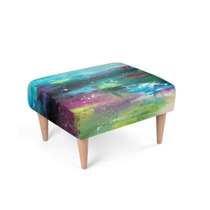 Summer in the Highlands Footstool