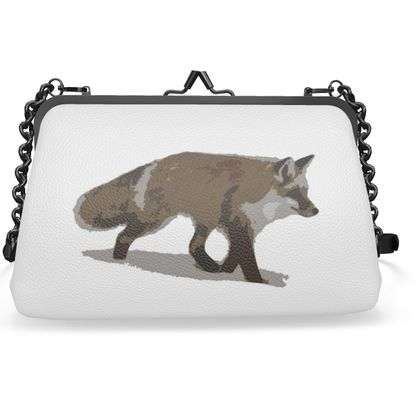 Flat Frame Bag - Lonely Fox In The Snow