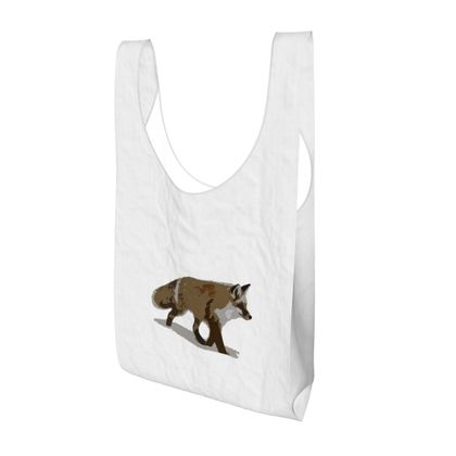 Parachute Shopping Bag - Lonely Fox In The Snow