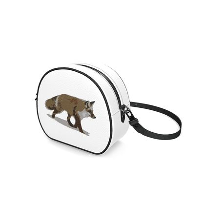 Round Box Bag - Lonely Fox In The Snow