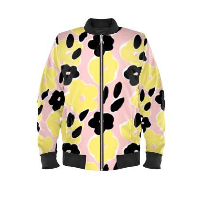 Ladies Bomber Jacket - Spring Pink