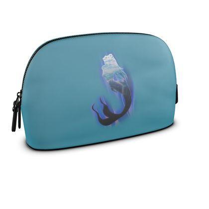Large Premium Nappa Make Up Bag - Magical Mermaid