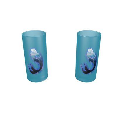 Large Round Shot Glass 2 Set - Magical Mermaid