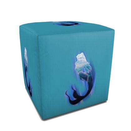 Square Pouffe - Magical Mermaid
