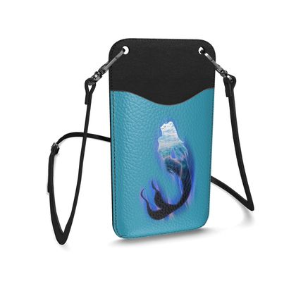 Leather Phone Case With Strap - Magical Mermaid