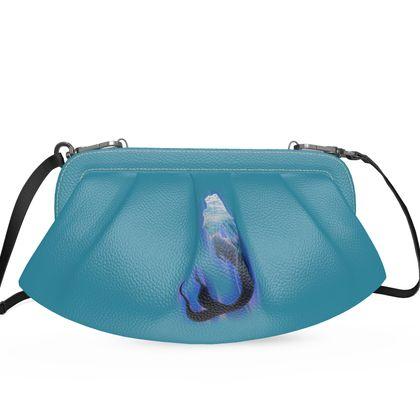 Large Pleated Soft Frame Bag - Magical Mermaid