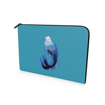 Leather Document Case - Magical Mermaid