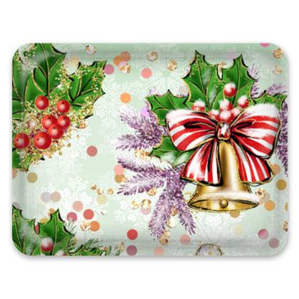 Merry Christmas! - Trays - red green glitter decor tree, celebration, holiday gift