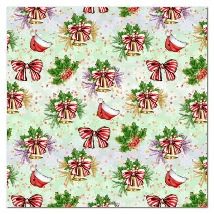 Merry Christmas! - Tablecloth - red green glitter decor tree, celebration, holiday gift