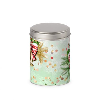 Merry Christmas! - Cylinder Tins - red green glitter decor tree, celebration, holiday gift