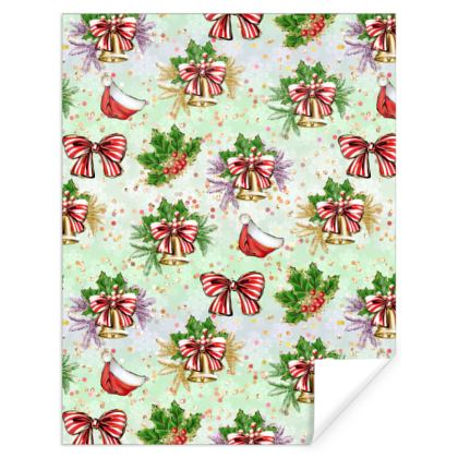 Merry Christmas! - Gift Wrap - red green glitter decor tree, celebration, holiday gift