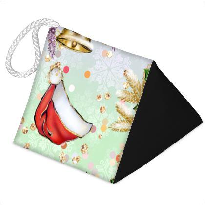 Merry Christmas! - Door Stopper - red green glitter decor tree, celebration, holiday gift