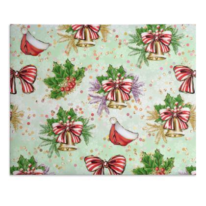 Merry Christmas! - Desk Pad - red green glitter decor tree, celebration, holiday gift