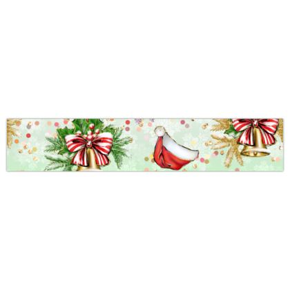 Merry Christmas! - Printed Ribbon - red green glitter decor tree, celebration, holiday gift