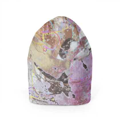 Beanie Hat with Mesmerising Abstract Art Print