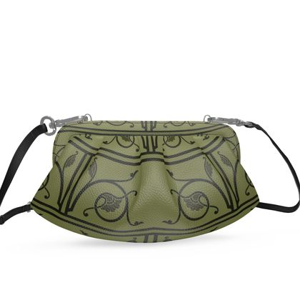Small Pleated Soft Frame Bag - Medieval Pattern from The Practical Decorator 1 of 8