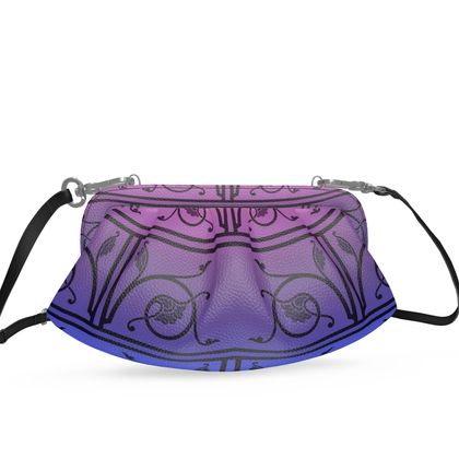 Small Pleated Soft Frame Bag - Medieval Pattern 8 of 8
