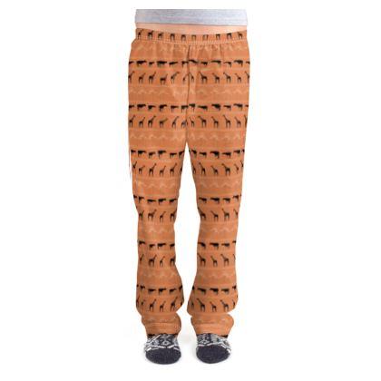 Giraffe & Okapi Sunset Ladies Pyjama Bottoms