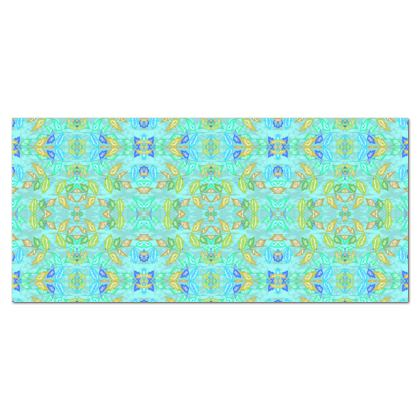 Tablecloth, Turquoise, Green, Leaf,  Slipstream  Egypt
