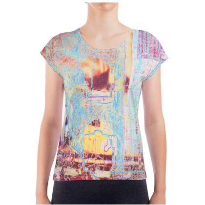 Ladies T Shirt with All Over Art Print